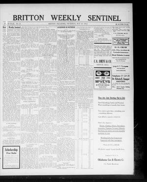Primary view of object titled 'Britton Weekly Sentinel (Britton, Okla.), Vol. 5, No. 19, Ed. 1 Thursday, May 30, 1912'.