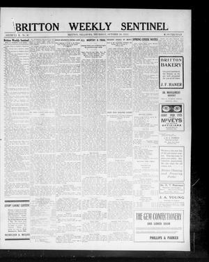 Primary view of Britton Weekly Sentinel (Britton, Okla.), Vol. 6, No. 41, Ed. 1 Thursday, October 30, 1913