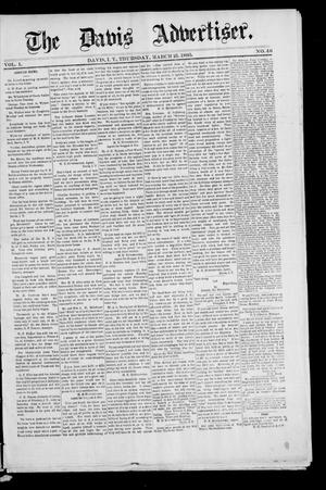 Primary view of object titled 'The Davis Advertiser. (Davis, Indian Terr.), Vol. 1, No. 46, Ed. 1 Thursday, March 21, 1895'.