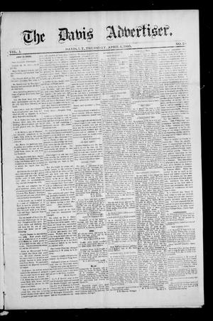 Primary view of object titled 'The Davis Advertiser. (Davis, Indian Terr.), Vol. 1, No. 48, Ed. 1 Thursday, April 4, 1895'.