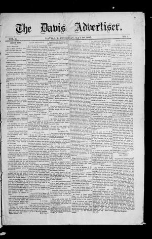 Primary view of object titled 'The Davis Advertiser. (Davis, Indian Terr.), Vol. 2, No. 4, Ed. 1 Thursday, May 30, 1895'.