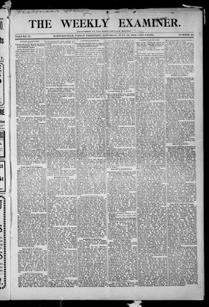 Primary view of object titled 'The Weekly Examiner. (Bartlesville, Indian Terr.), Vol. 9, No. 20, Ed. 1 Saturday, July 25, 1903'.