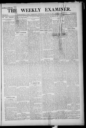 Primary view of object titled 'The Weekly Examiner. (Bartlesville, Indian Terr.), Vol. 10, No. 25, Ed. 1 Saturday, August 27, 1904'.