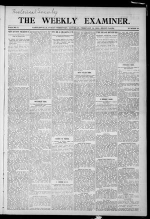 Primary view of object titled 'The Weekly Examiner. (Bartlesville, Indian Terr.), Vol. 10, No. 50, Ed. 1 Saturday, February 18, 1905'.