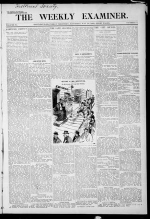 Primary view of object titled 'The Weekly Examiner. (Bartlesville, Indian Terr.), Vol. 11, No. 11, Ed. 1 Saturday, May 20, 1905'.