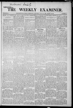 Primary view of object titled 'The Weekly Examiner. (Bartlesville, Indian Terr.), Vol. 11, No. 16, Ed. 1 Saturday, June 24, 1905'.