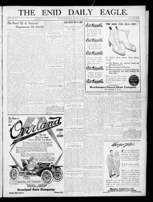 Primary view of object titled 'The Enid Daily Eagle. (Enid, Okla.), Vol. 9, No. 313, Ed. 2 Sunday, August 28, 1910'.