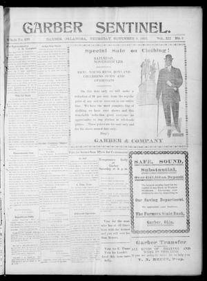 Primary view of Garber Sentinel. (Garber, Okla.), Vol. 12, No. 3, Ed. 1 Thursday, November 3, 1910