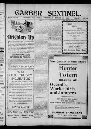 Primary view of Garber Sentinel. (Garber, Okla.), Vol. 15, No. 25, Ed. 1 Thursday, March 26, 1914