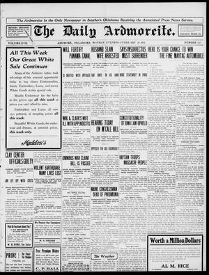 Primary view of The Daily Ardmoreite. (Ardmore, Okla.), Vol. 17, No. 119, Ed. 1 Monday, February 20, 1911