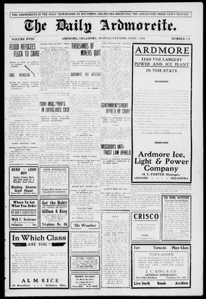 Primary view of object titled 'The Daily Ardmoreite. (Ardmore, Okla.), Vol. 18, No. 152, Ed. 1 Monday, April 1, 1912'.