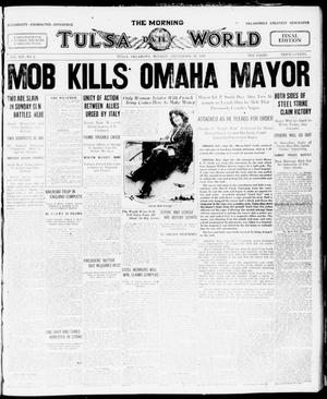 Primary view of object titled 'The Morning Tulsa Daily World (Tulsa, Okla.), Vol. 14, No. 2, Ed. 1 Monday, September 29, 1919'.