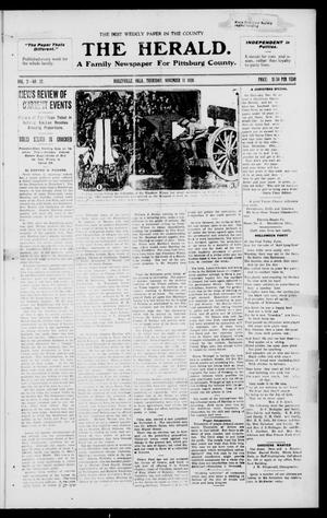 Primary view of object titled 'The Herald. (Haileyville, Okla.), Vol. 2, No. 32, Ed. 1 Thursday, November 11, 1920'.