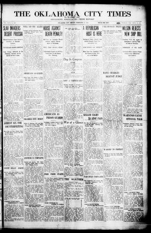 Primary view of object titled 'The Oklahoma  City Times And The Weekly Times (Oklahoma City, Okla.), Vol. 26, No. 31, Ed. 1 Friday, February 12, 1915'.