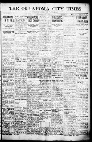 Primary view of object titled 'The Oklahoma  City Times And The Weekly Times (Oklahoma City, Okla.), Vol. 26, No. 34, Ed. 1 Friday, March 5, 1915'.