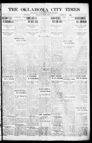 Primary view of object titled 'The Oklahoma  City Times And The Weekly Times (Oklahoma City, Okla.), Vol. 26, No. 35, Ed. 1 Friday, March 12, 1915'.