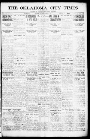 Primary view of object titled 'The Oklahoma  City Times And The Weekly Times (Oklahoma City, Okla.), Vol. 26, No. [36], Ed. 1 Friday, March 19, 1915'.