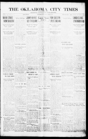 Primary view of object titled 'The Oklahoma  City Times And The Weekly Times (Oklahoma City, Okla.), Vol. 26, No. 42, Ed. 1 Friday, April 30, 1915'.