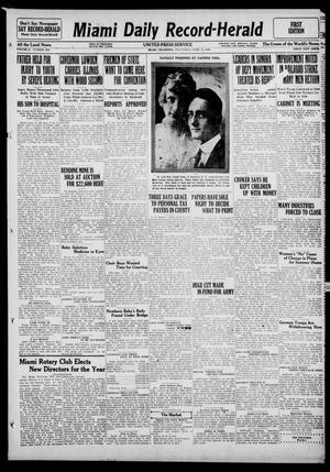 Primary view of object titled 'Miami Daily Record-Herald (Miami, Okla.), Vol. 3, No. 279, Ed. 1 Wednesday, April 14, 1920'.