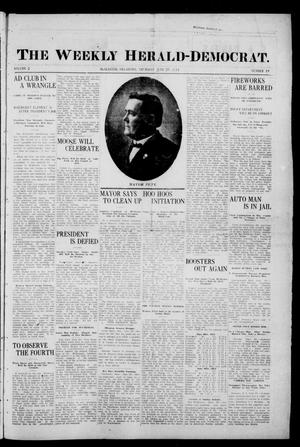 Primary view of object titled 'The Weekly Herald-Democrat. (McAlester, Okla.), Vol. 2, No. 19, Ed. 1 Thursday, June 29, 1911'.
