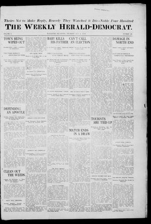Primary view of object titled 'The Weekly Herald-Democrat. (McAlester, Okla.), Vol. 2, No. 20, Ed. 1 Thursday, July 6, 1911'.