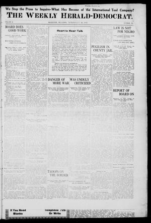 Primary view of object titled 'The Weekly Herald-Democrat. (McAlester, Okla.), Vol. 2, No. 22, Ed. 1 Thursday, July 20, 1911'.