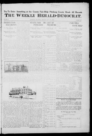 Primary view of object titled 'The Weekly Herald-Democrat. (McAlester, Okla.), Vol. 2, No. 23, Ed. 1 Thursday, July 27, 1911'.