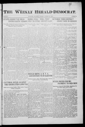 Primary view of object titled 'The Weekly Herald-Democrat. (McAlester, Okla.), Vol. 2, No. 34, Ed. 1 Thursday, October 12, 1911'.