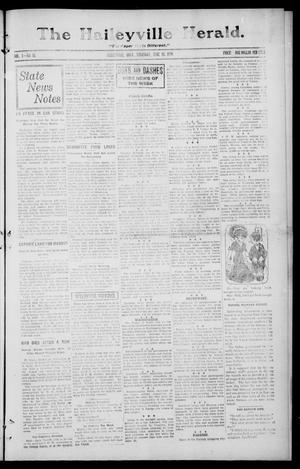 Primary view of object titled 'The Haileyville Herald. (Haileyville, Okla.), Vol. 1, No. 12, Ed. 1 Thursday, June 26, 1919'.