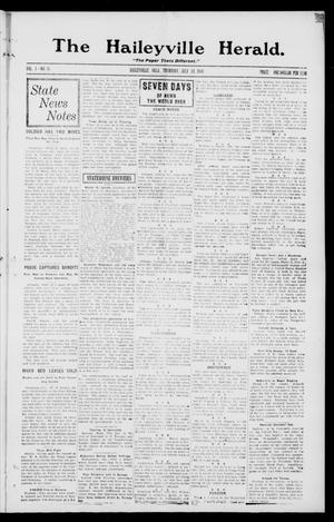 Primary view of object titled 'The Haileyville Herald. (Haileyville, Okla.), Vol. 1, No. 16, Ed. 1 Thursday, July 24, 1919'.