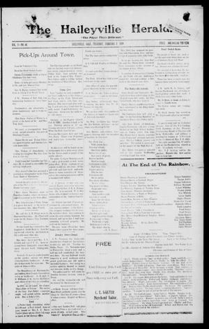 Primary view of object titled 'The Haileyville Herald. (Haileyville, Okla.), Vol. 1, No. 44, Ed. 1 Thursday, February 5, 1920'.