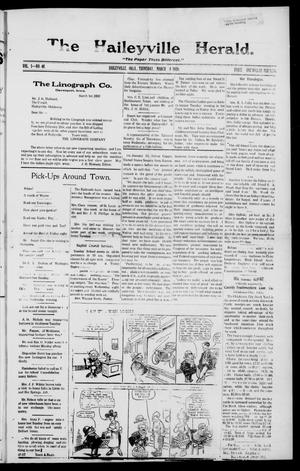 Primary view of object titled 'The Haileyville Herald. (Haileyville, Okla.), Vol. 1, No. 48, Ed. 1 Thursday, March 4, 1920'.