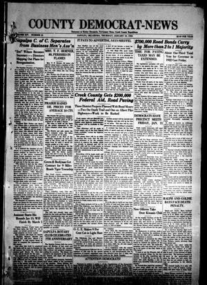 Primary view of County Democrat-News (Sapulpa, Okla.), Vol. 14, No. 16, Ed. 1 Thursday, January 10, 1924