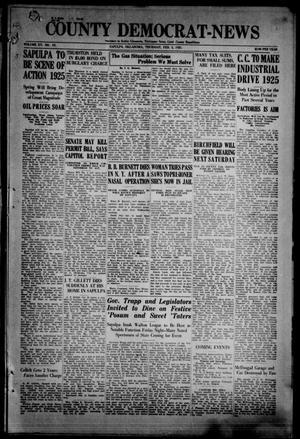 Primary view of County Democrat-News (Sapulpa, Okla.), Vol. 15, No. 19, Ed. 1 Thursday, February 5, 1925