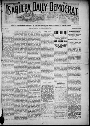 Primary view of object titled 'Sapulpa Daily Democrat (Sapulpa, Indian Terr.), Vol. 1, No. 179, Ed. 1 Saturday, August 24, 1907'.