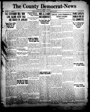 Primary view of The County Democrat-News (Sapulpa, Okla.), Vol. 11, No. 19, Ed. 1 Friday, February 4, 1921