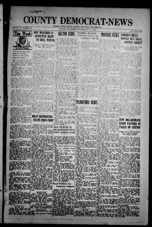 Primary view of County Democrat-News (Sapulpa, Okla.), Vol. 15, No. 39, Ed. 1 Thursday, July 2, 1925