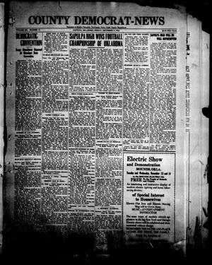 Primary view of object titled 'County Democrat-News (Sapulpa, Okla.), Vol. 12, No. 11, Ed. 1 Friday, December 9, 1921'.