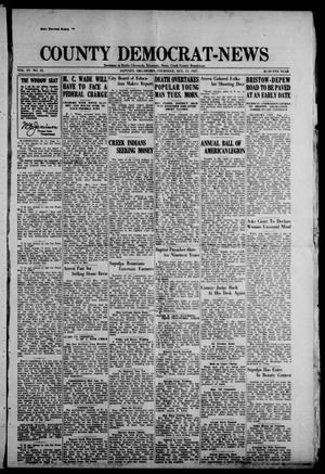 Primary view of object titled 'County Democrat-News (Sapulpa, Okla.), Vol. 17, No. 45, Ed. 1 Thursday, August 11, 1927'.