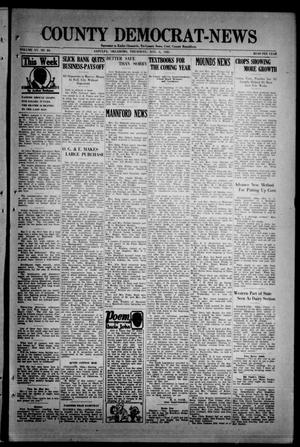 Primary view of object titled 'County Democrat-News (Sapulpa, Okla.), Vol. 15, No. 44, Ed. 1 Thursday, August 6, 1925'.