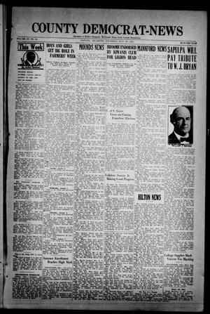 Primary view of County Democrat-News (Sapulpa, Okla.), Vol. 15, No. 43, Ed. 1 Thursday, July 30, 1925
