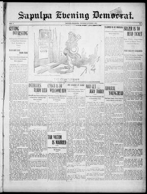 Primary view of object titled 'Sapulpa Evening Democrat. (Sapulpa, Okla.), Vol. 2, No. 6, Ed. 1 Thursday, October 3, 1912'.