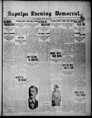 Primary view of object titled 'Sapulpa Evening Democrat. (Sapulpa, Okla.), Vol. 3, No. 129, Ed. 1 Thursday, February 26, 1914'.