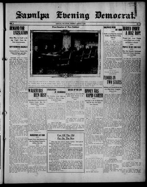 Primary view of object titled 'Sapulpa Evening Democrat. (Sapulpa, Okla.), Vol. 2, No. 145, Ed. 1 Monday, March 17, 1913'.