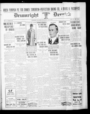 Primary view of object titled 'Drumright Evening Derrick (Drumright, Okla.), Vol. 5, No. 249, Ed. 1 Wednesday, January 19, 1921'.
