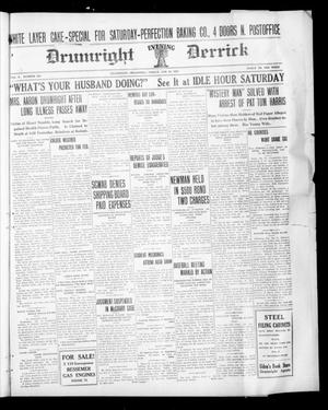 Primary view of object titled 'Drumright Evening Derrick (Drumright, Okla.), Vol. 5, No. 251, Ed. 1 Friday, January 21, 1921'.