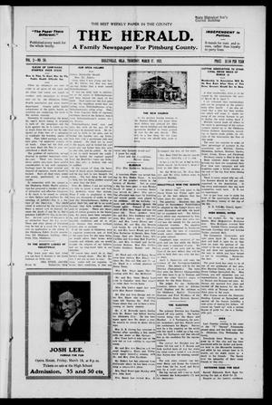 Primary view of object titled 'The Herald. (Haileyville, Okla.), Vol. 2, No. 50, Ed. 1 Thursday, March 17, 1921'.