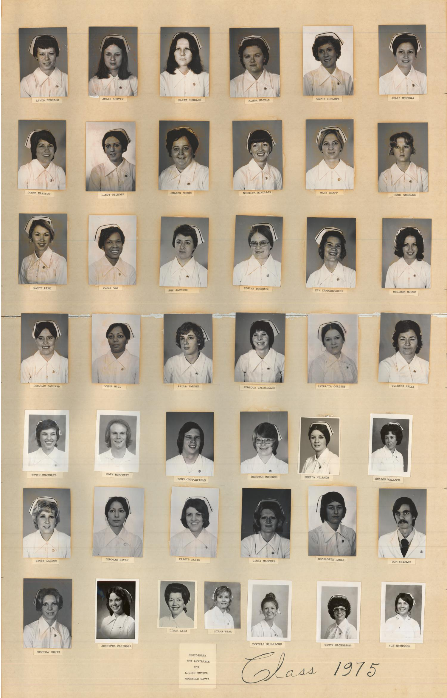 St. Anthony School of Nursing Class of 1975                                                                                                      [Sequence #]: 1 of 1