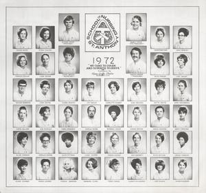 Primary view of object titled 'St. Anthony School of Nursing Class of 1972'.