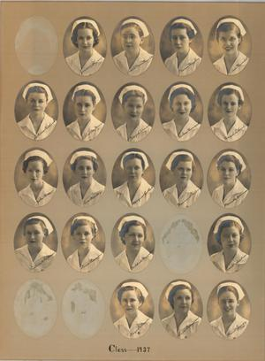 Primary view of object titled 'St. Anthony School of Nursing Class of 1937'.